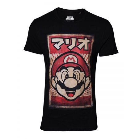 T-Shirt Mario propaganda Adulte noir