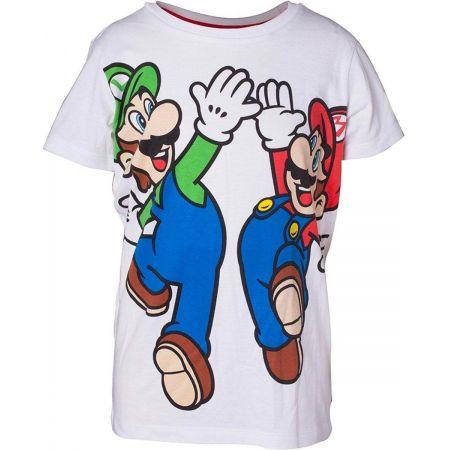 T shirt Mario & Luigi enfant blanc