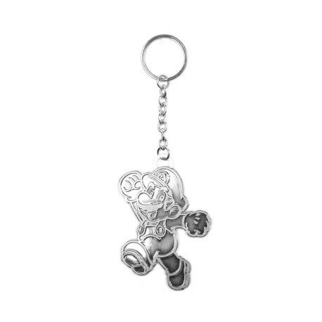 Porte clés Super Mario Bros argenté