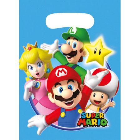 8 sacs de fêtes anniversaires de Mario Bros