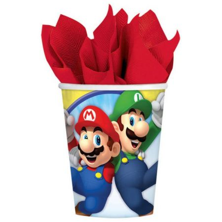 8 gobelets Super Mario - Anniversaire Mario