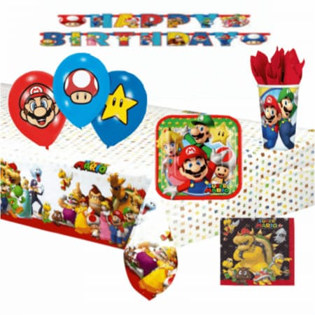 Kit Decoration Anniversaire : theme mario bros