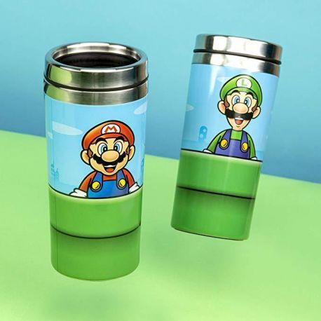 Gourde Mario Bros en acier isotherme de 450 ml