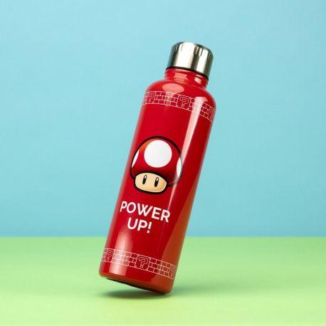 Gourde Mario rouge Power Up de 500 ml